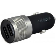 Автомобильное зарядное устройство EnergEA Alu drive 2 USB Aluminium (CAR-AD-48) 4.8A, Black