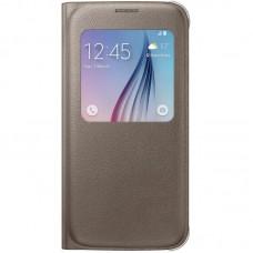 Чехол для Samsung Galaxy S6 (EF-CG920PFEGRU) S View Cover GOLD
