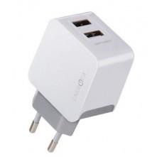 Сетевое зарядное устройство EnergEA Ampcharge (DU34-NTK-MEU) 2 USB 3.4A + кабель micro-USB