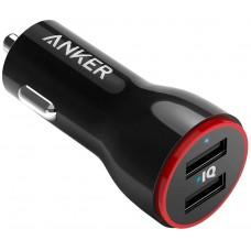 Автомобильное зарядное устройство Anker 24W 2-Port Car Charger 2 A2310011 (Black)
