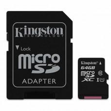 Карта памяти Kingston SDC10G2/64GB, microSD 64GB Class 10