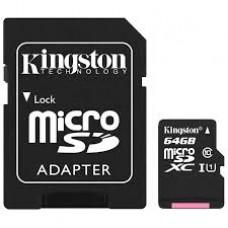 Карта памяти Kingston SDCS/64GB, microSD 64GB class10 U1